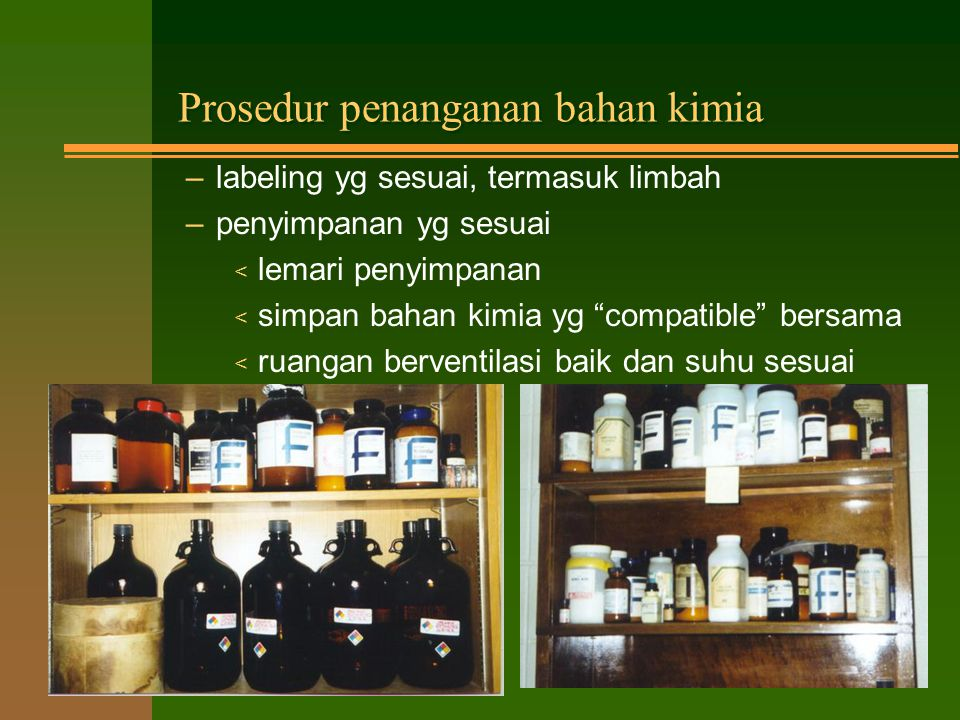 Prosedur penanganan bahan kimia
