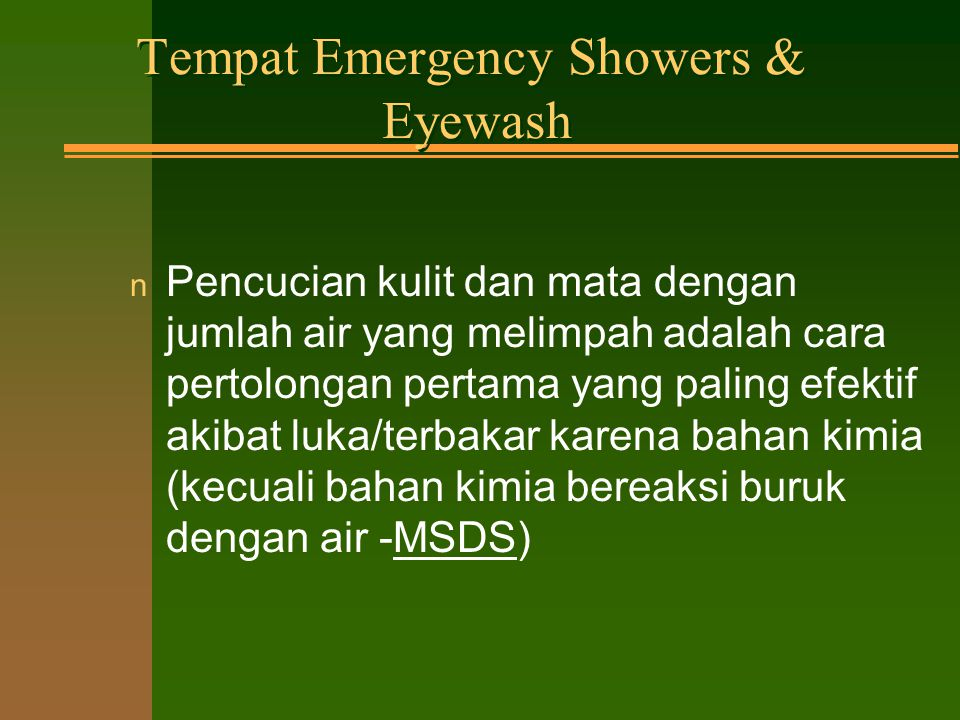 Tempat Emergency Showers & Eyewash