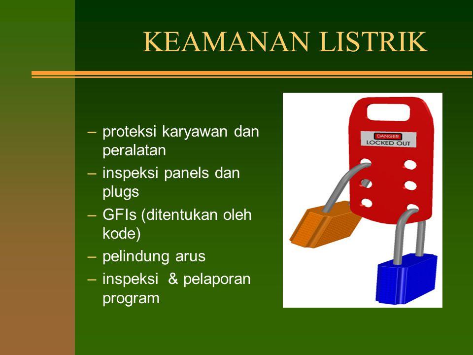 KEAMANAN LISTRIK proteksi karyawan dan peralatan