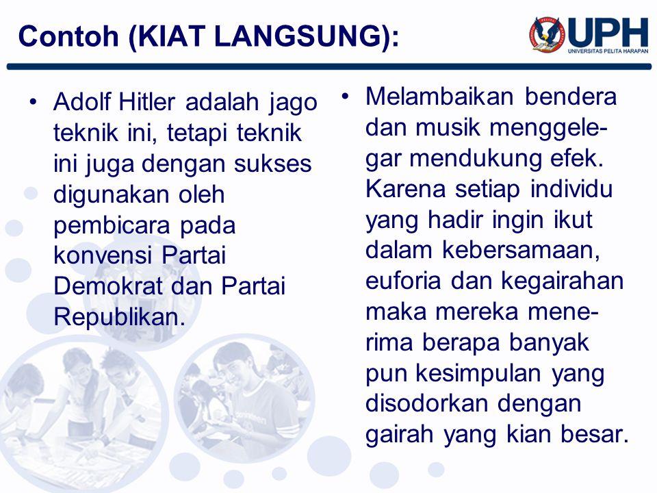 Contoh (KIAT LANGSUNG):