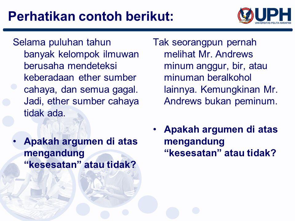 Perhatikan contoh berikut:
