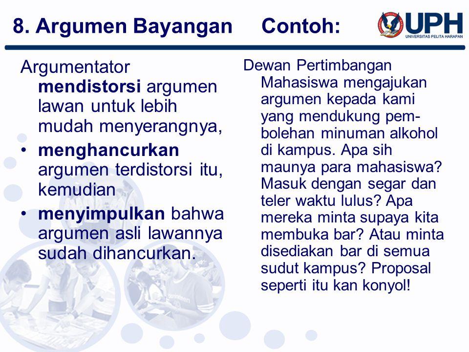 8. Argumen Bayangan Contoh: