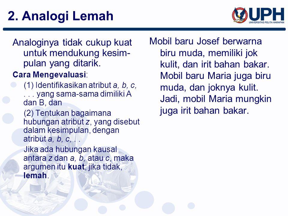 2. Analogi Lemah