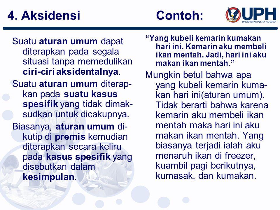4. Aksidensi Contoh:
