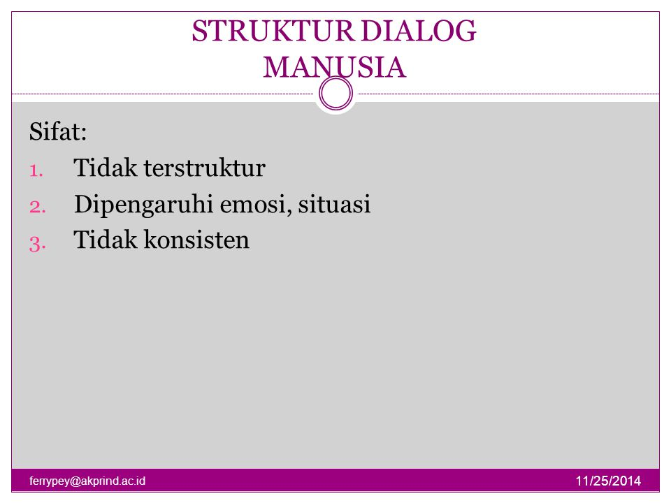 STRUKTUR DIALOG MANUSIA