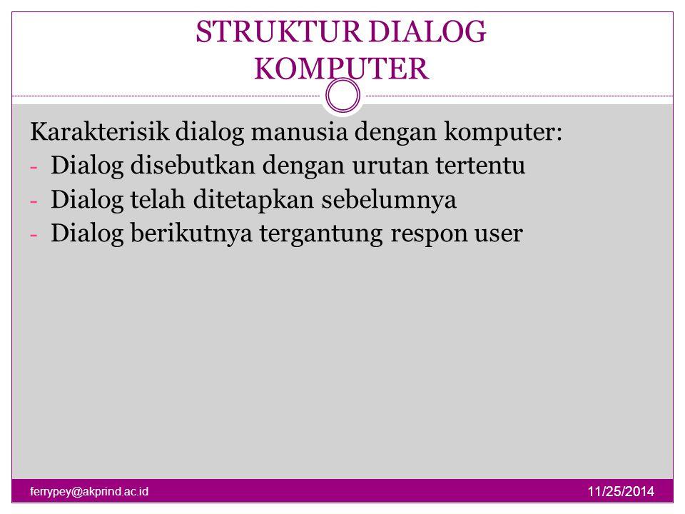 STRUKTUR DIALOG KOMPUTER