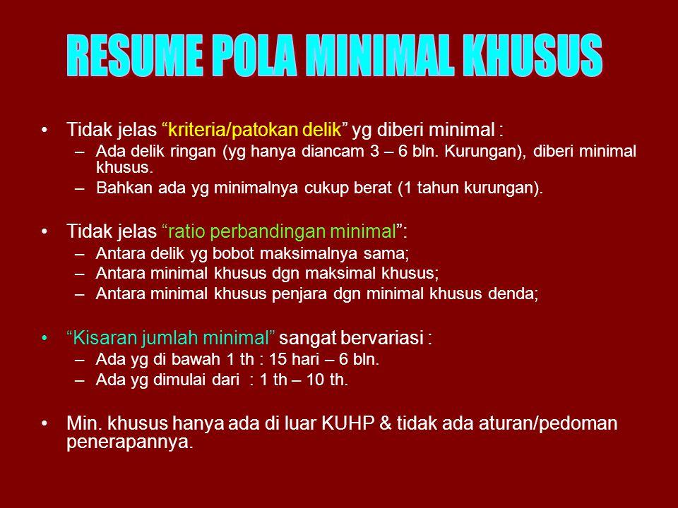 RESUME POLA MINIMAL KHUSUS