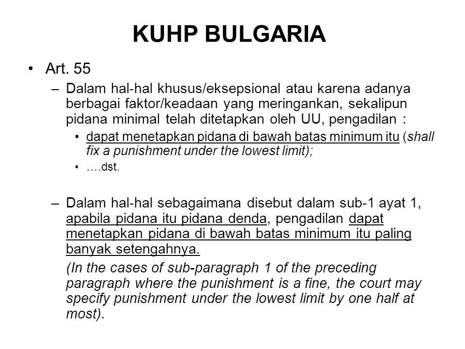 KUHP BULGARIA Art. 55.