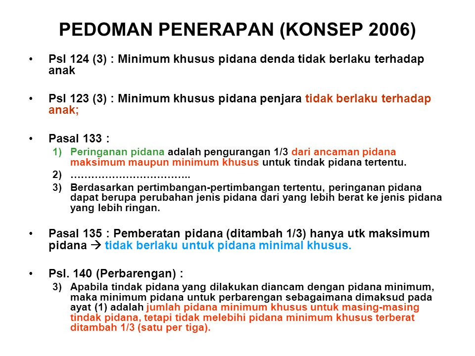PEDOMAN PENERAPAN (KONSEP 2006)