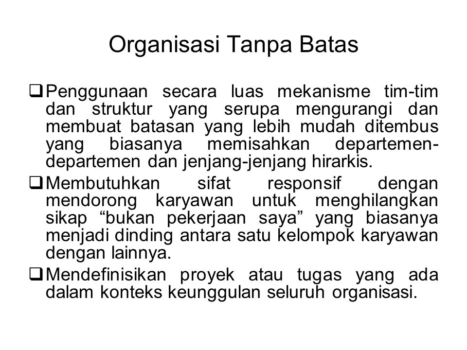 Organisasi Tanpa Batas