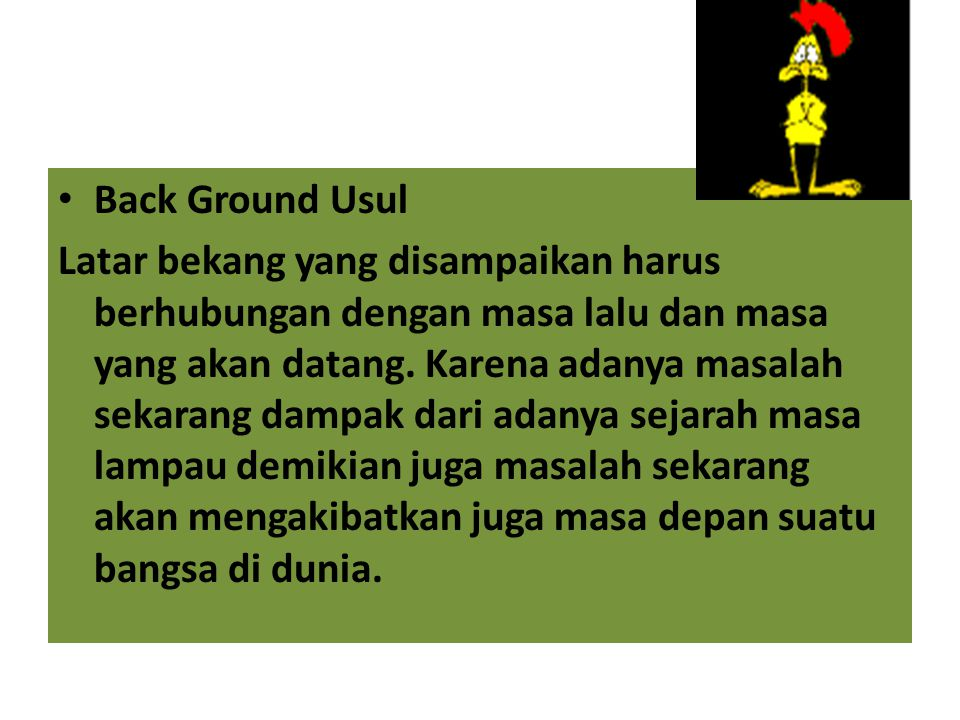 Back Ground Usul