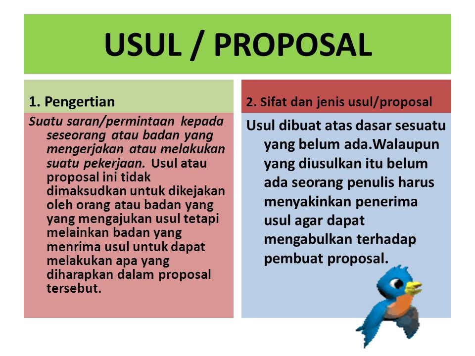 USUL / PROPOSAL 1. Pengertian