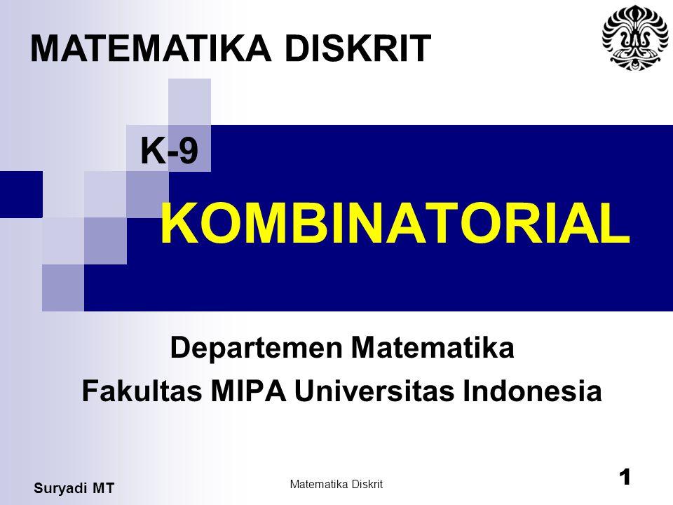 Departemen Matematika Fakultas MIPA Universitas Indonesia