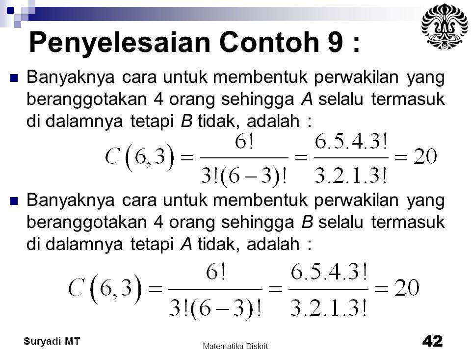 Penyelesaian Contoh 9 :