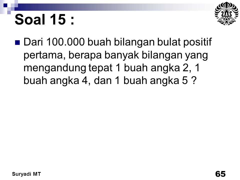 Soal 15 :