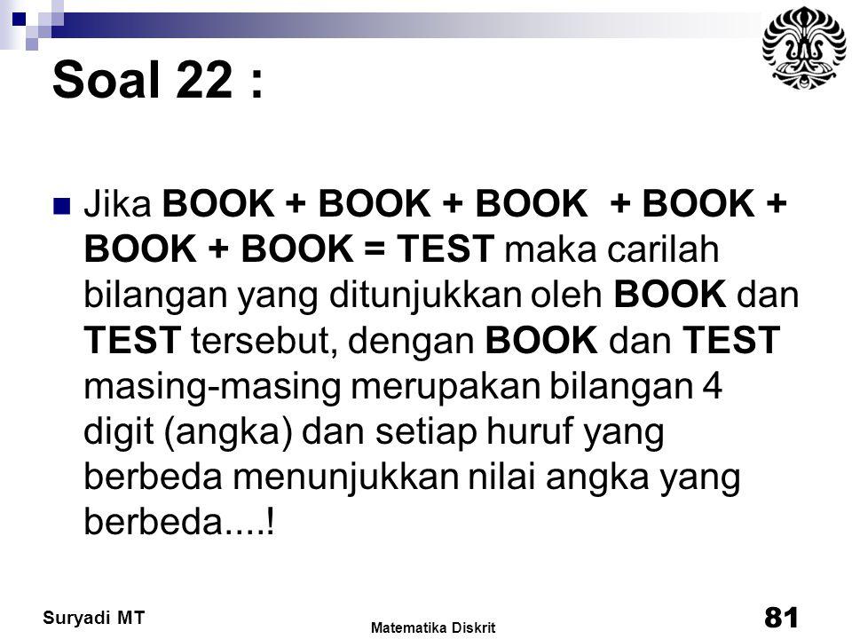 Soal 22 :