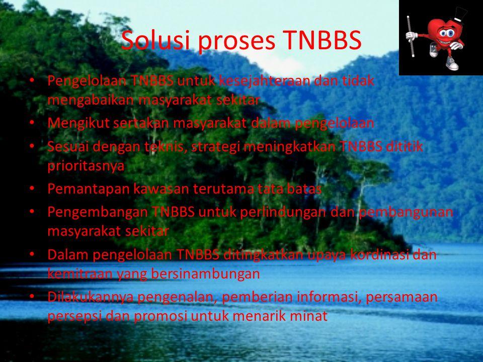 Solusi proses TNBBS Pengelolaan TNBBS untuk kesejahteraan dan tidak mengabaikan masyarakat sekitar.