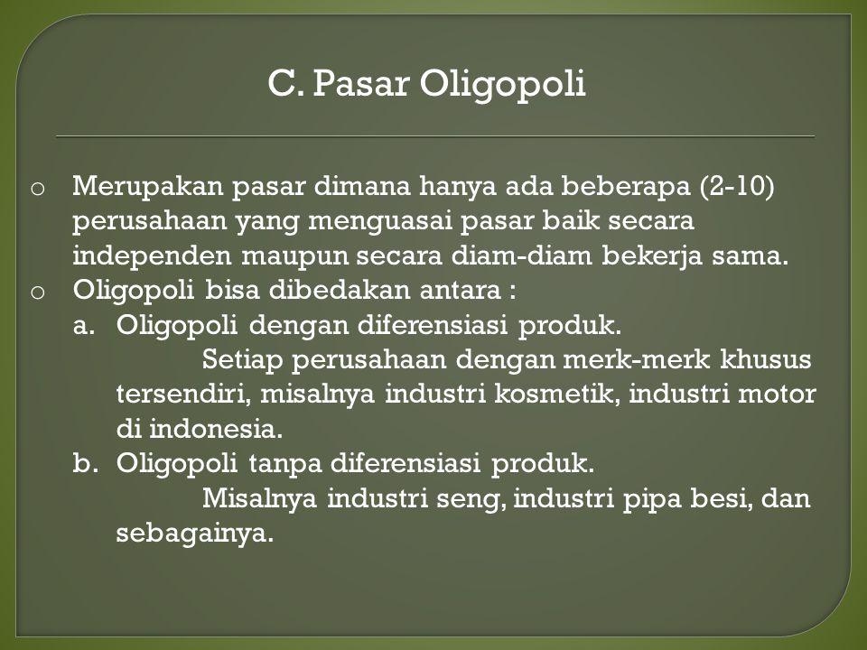 C. Pasar Oligopoli