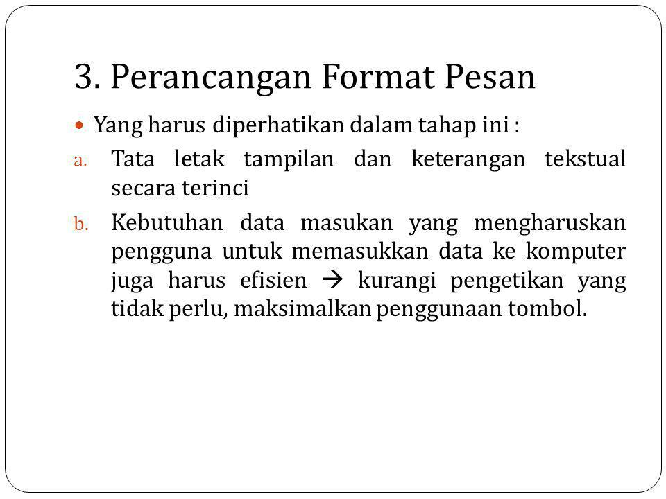 3. Perancangan Format Pesan