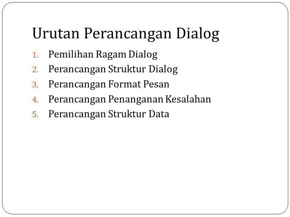 Urutan Perancangan Dialog