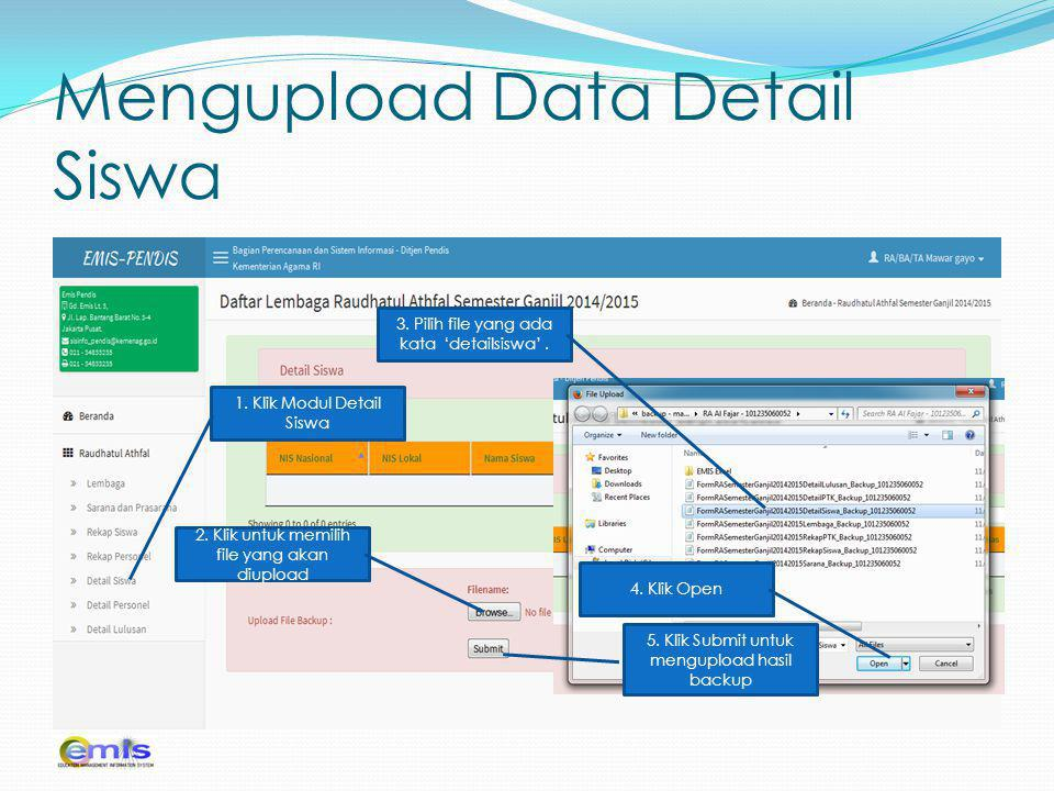 Mengupload Data Detail Siswa