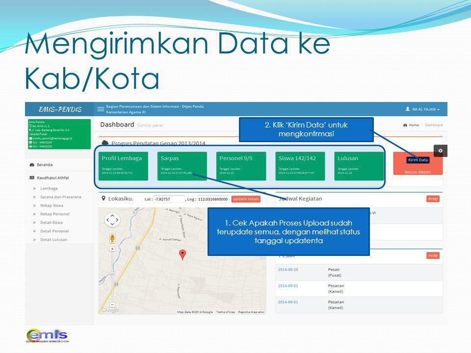 Mengirimkan Data ke Kab/Kota