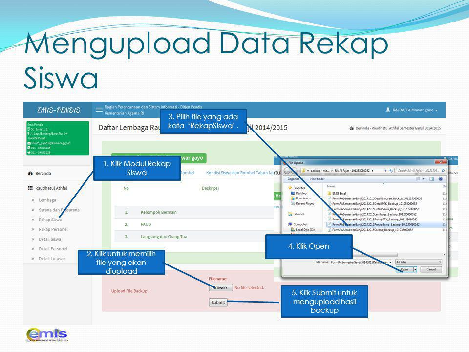 Mengupload Data Rekap Siswa
