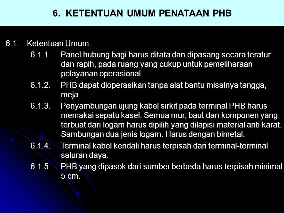 6. KETENTUAN UMUM PENATAAN PHB