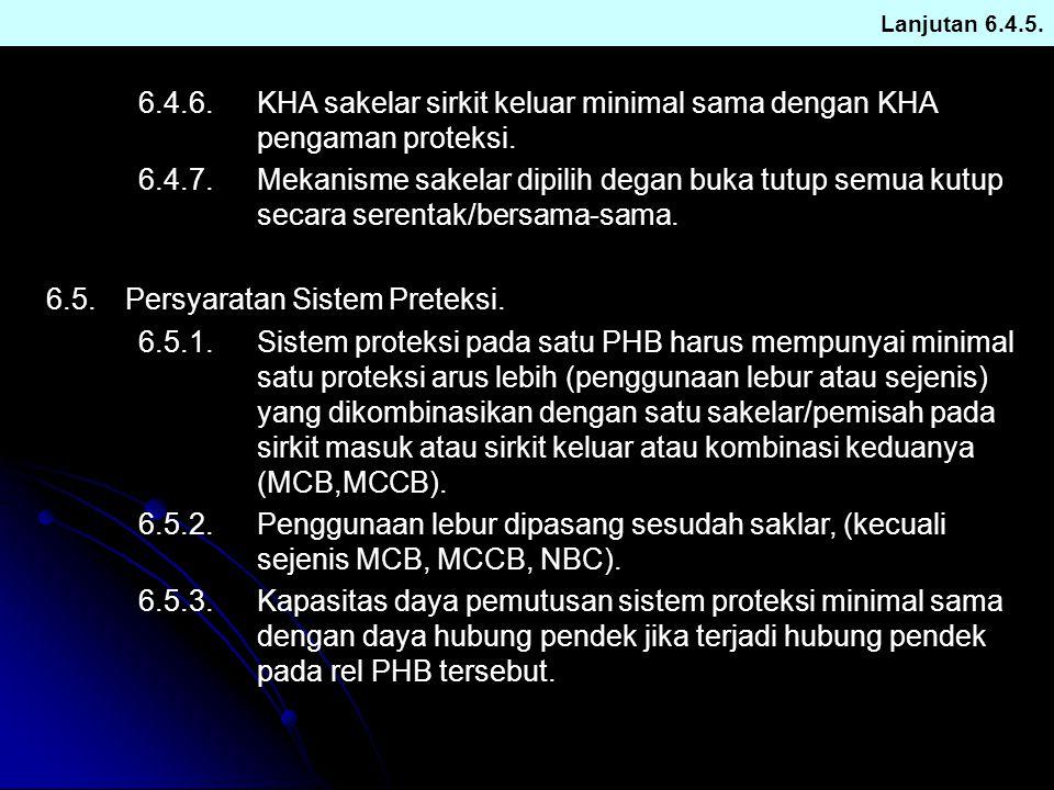 6.5. Persyaratan Sistem Preteksi.