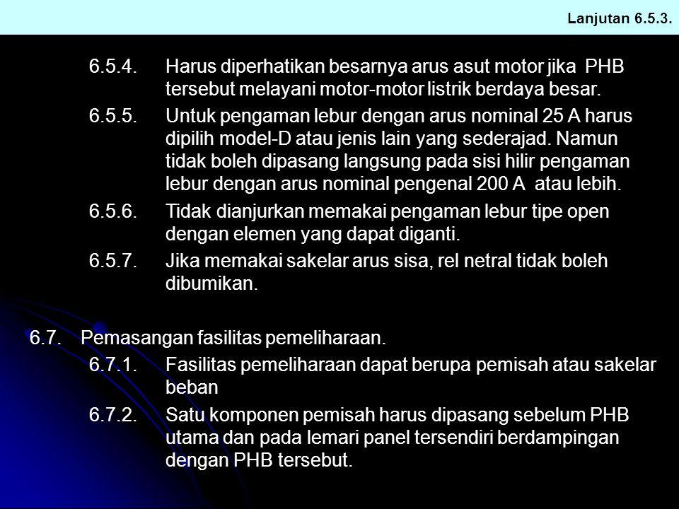 6.7. Pemasangan fasilitas pemeliharaan.