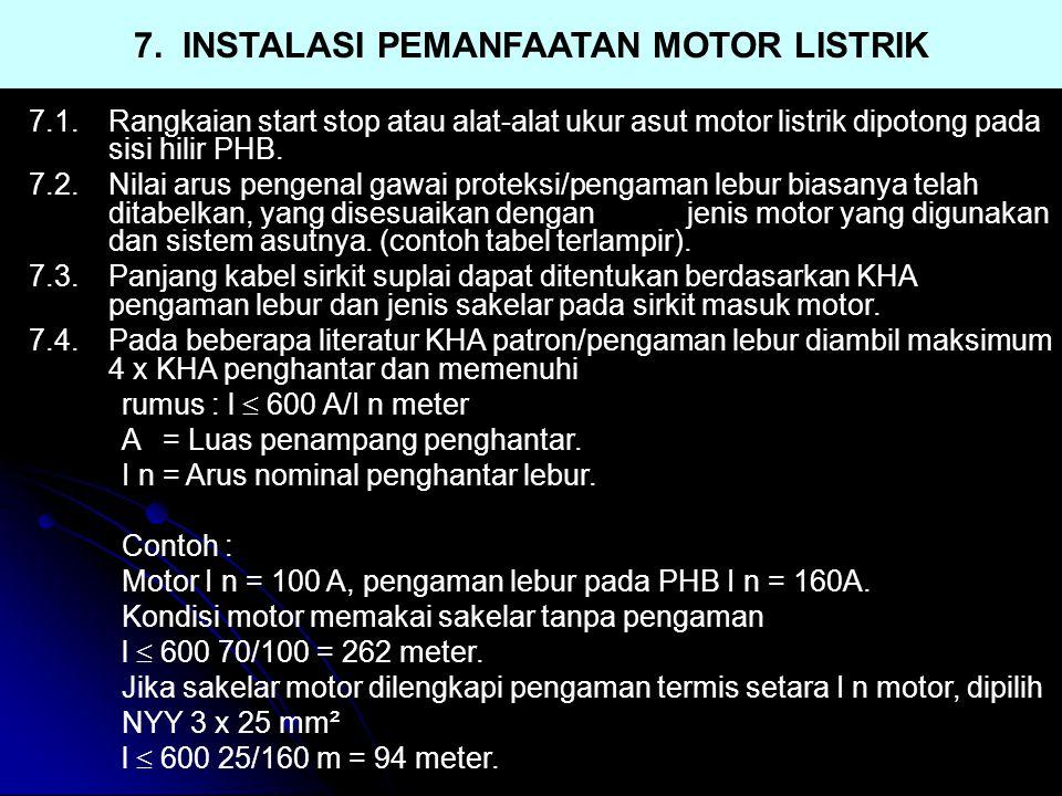7. INSTALASI PEMANFAATAN MOTOR LISTRIK