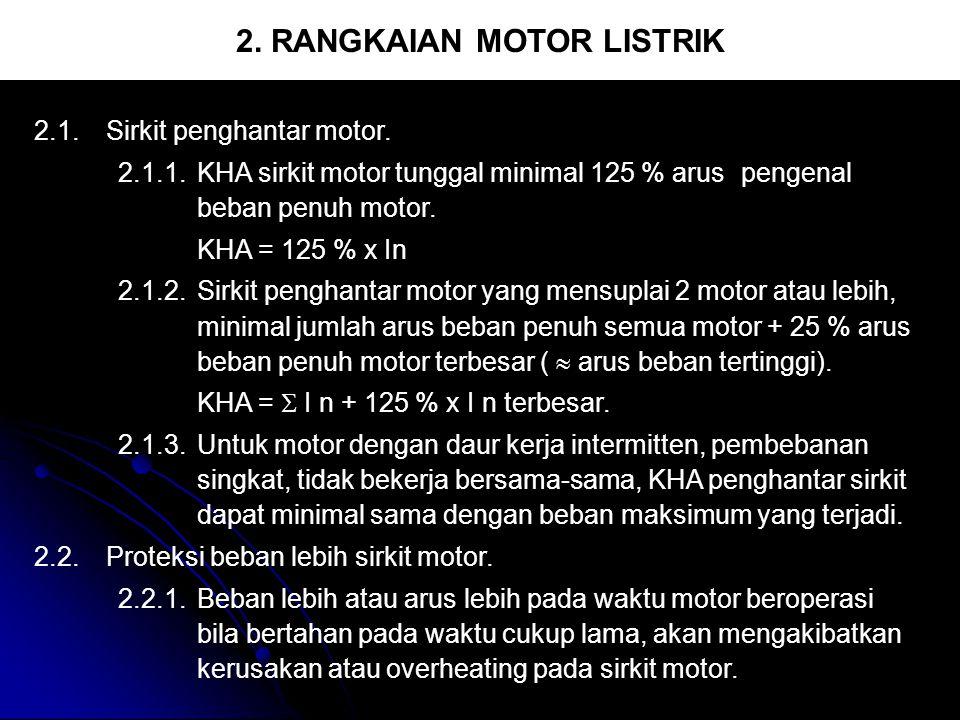 2. RANGKAIAN MOTOR LISTRIK