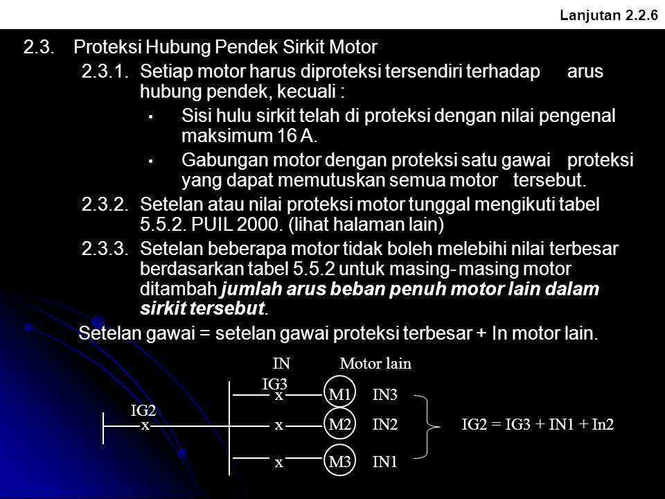 2.3. Proteksi Hubung Pendek Sirkit Motor