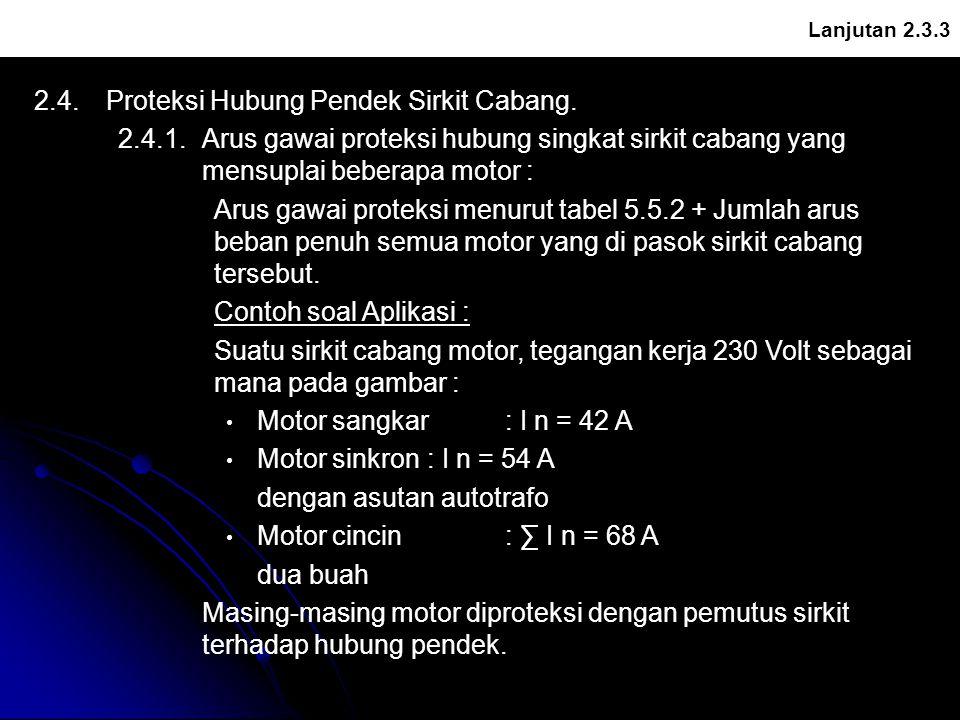 2.4. Proteksi Hubung Pendek Sirkit Cabang.