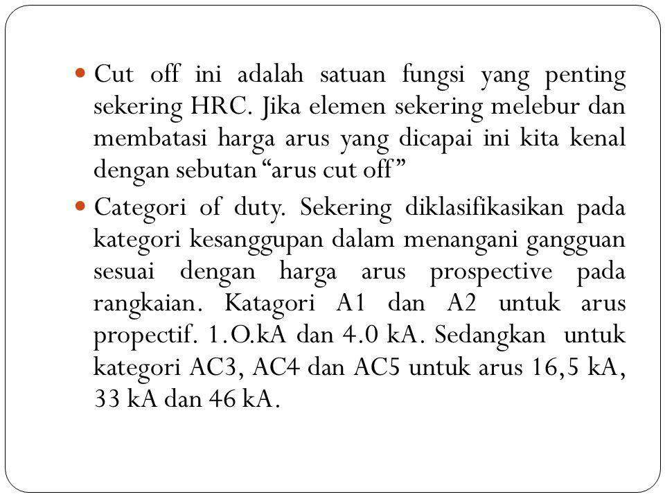 Cut off ini adalah satuan fungsi yang penting sekering HRC