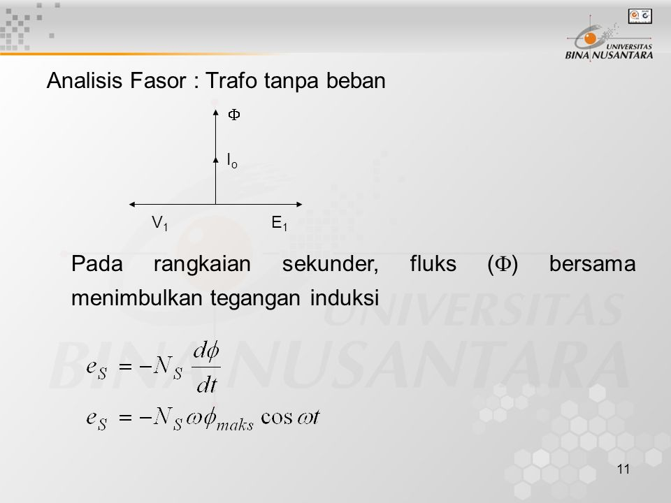 Analisis Fasor : Trafo tanpa beban