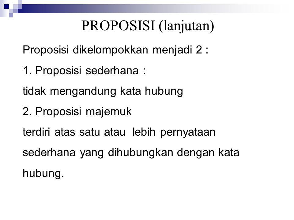 PROPOSISI (lanjutan)