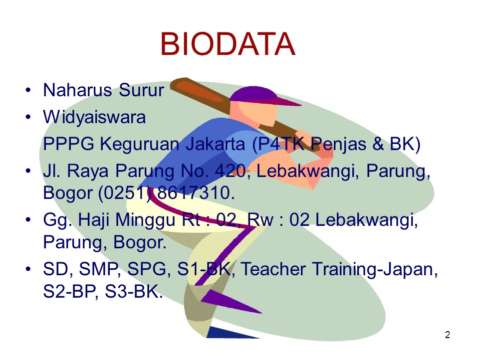 BIODATA Naharus Surur Widyaiswara