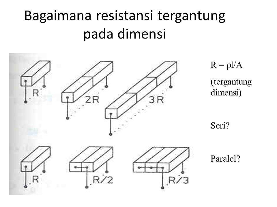 Bagaimana resistansi tergantung pada dimensi