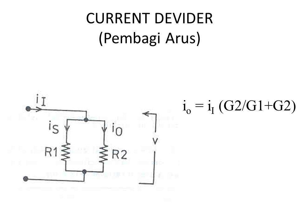 CURRENT DEVIDER (Pembagi Arus)