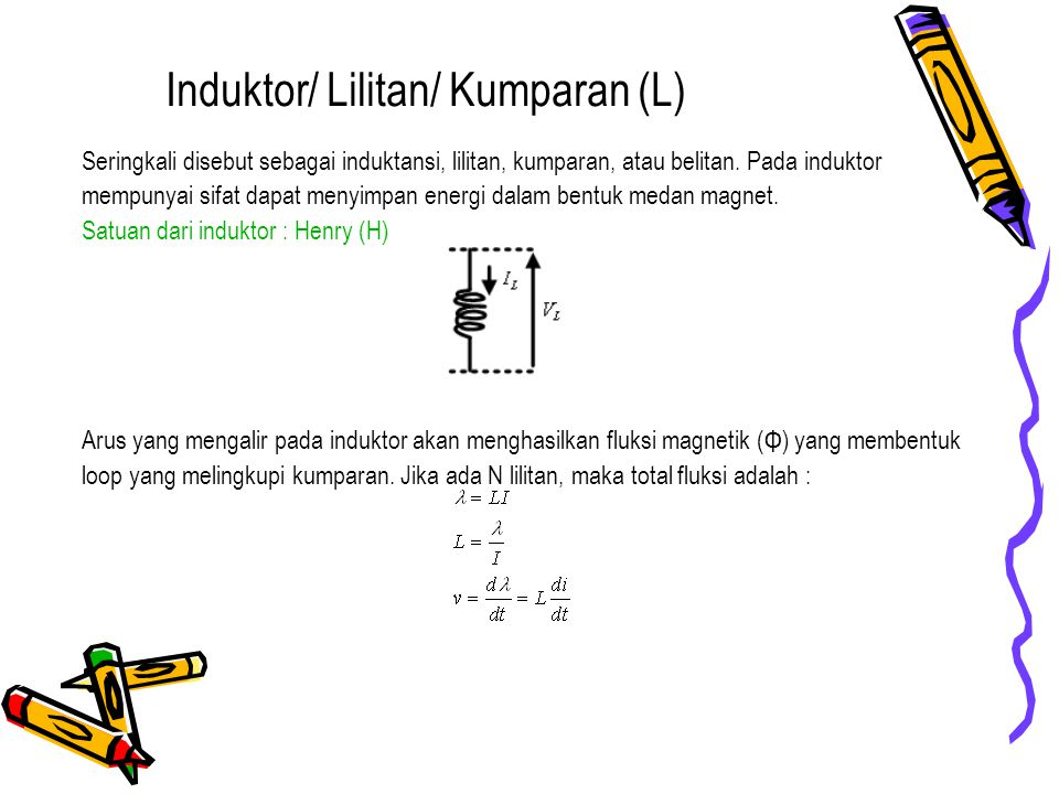 Induktor/ Lilitan/ Kumparan (L)