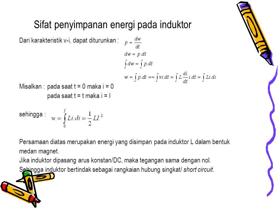 Sifat penyimpanan energi pada induktor