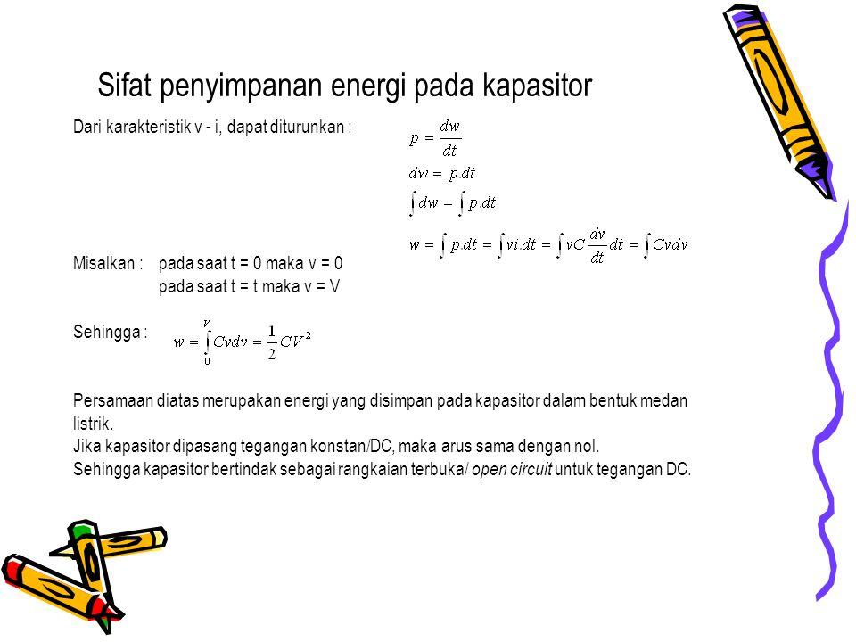 Sifat penyimpanan energi pada kapasitor