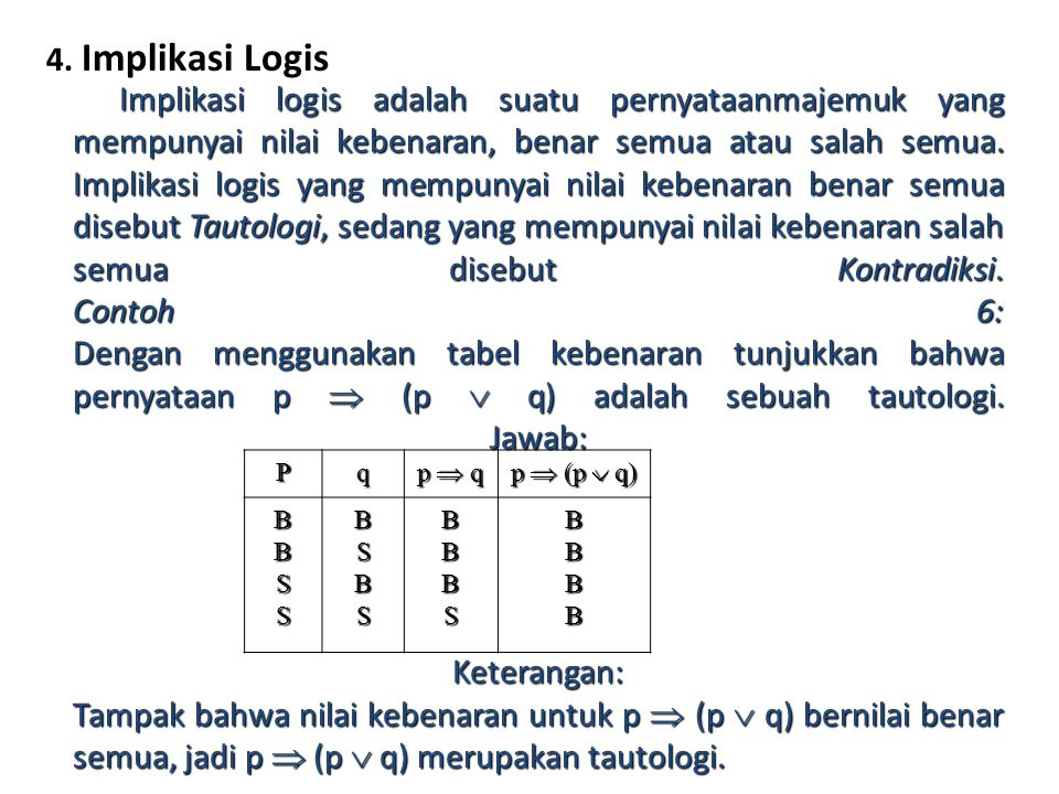 4. Implikasi Logis