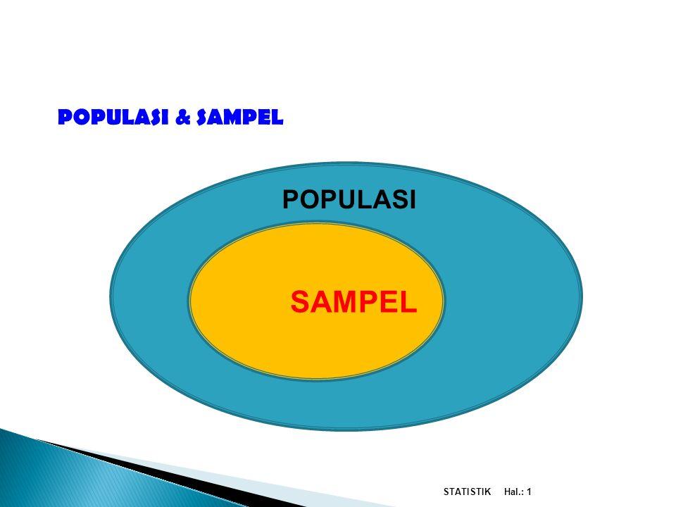 SAMPEL PENGERTIAN STATISTIK POPULASI POPULASI & SAMPEL STATISTIK