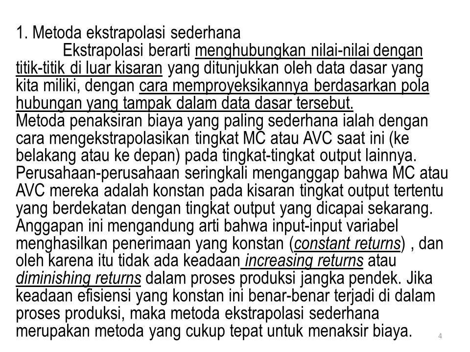 1. Metoda ekstrapolasi sederhana