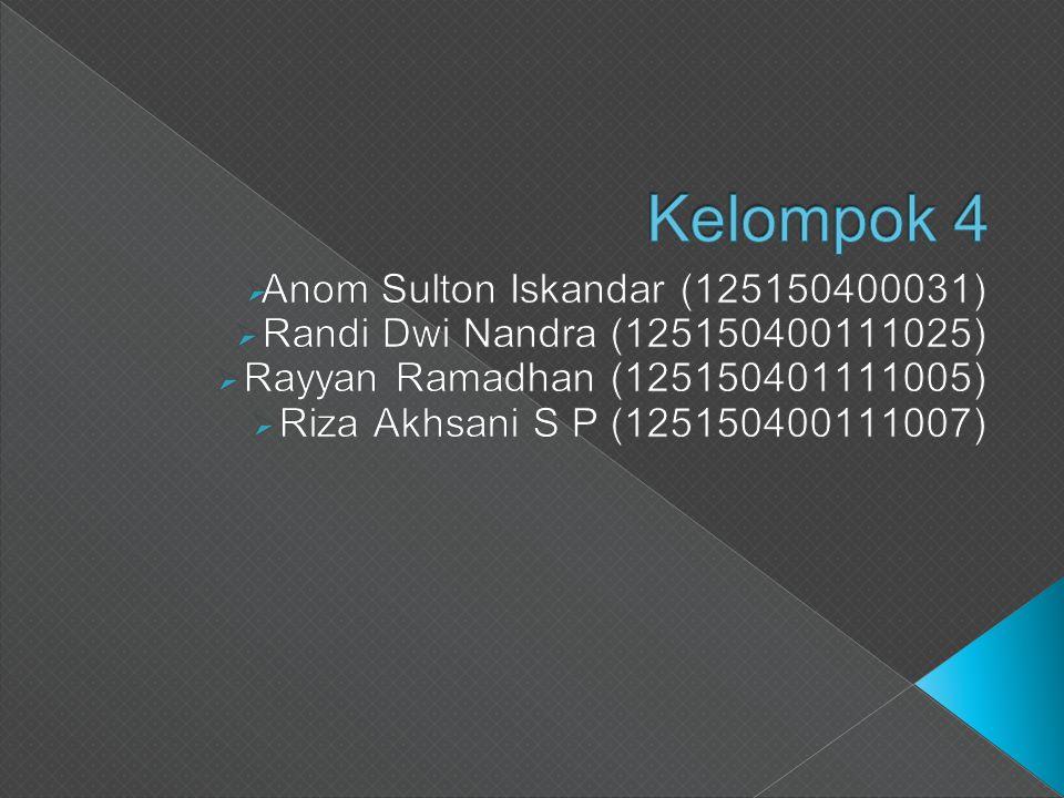 Kelompok 4 Anom Sulton Iskandar (125150400031)