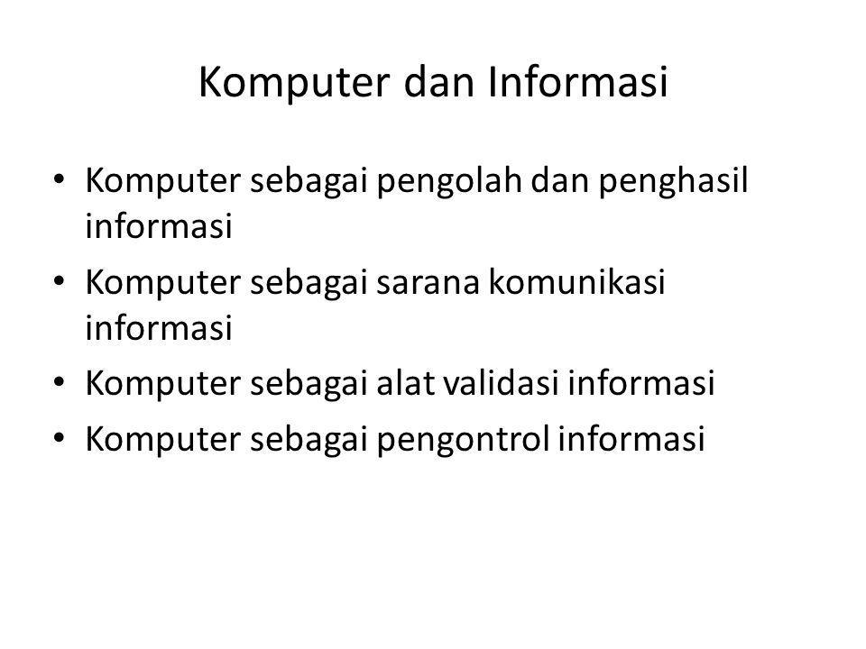 Komputer dan Informasi