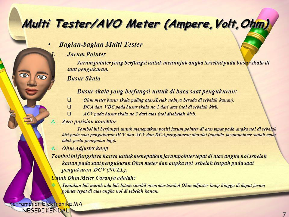 Multi Tester/AVO Meter (Ampere,Volt,Ohm)