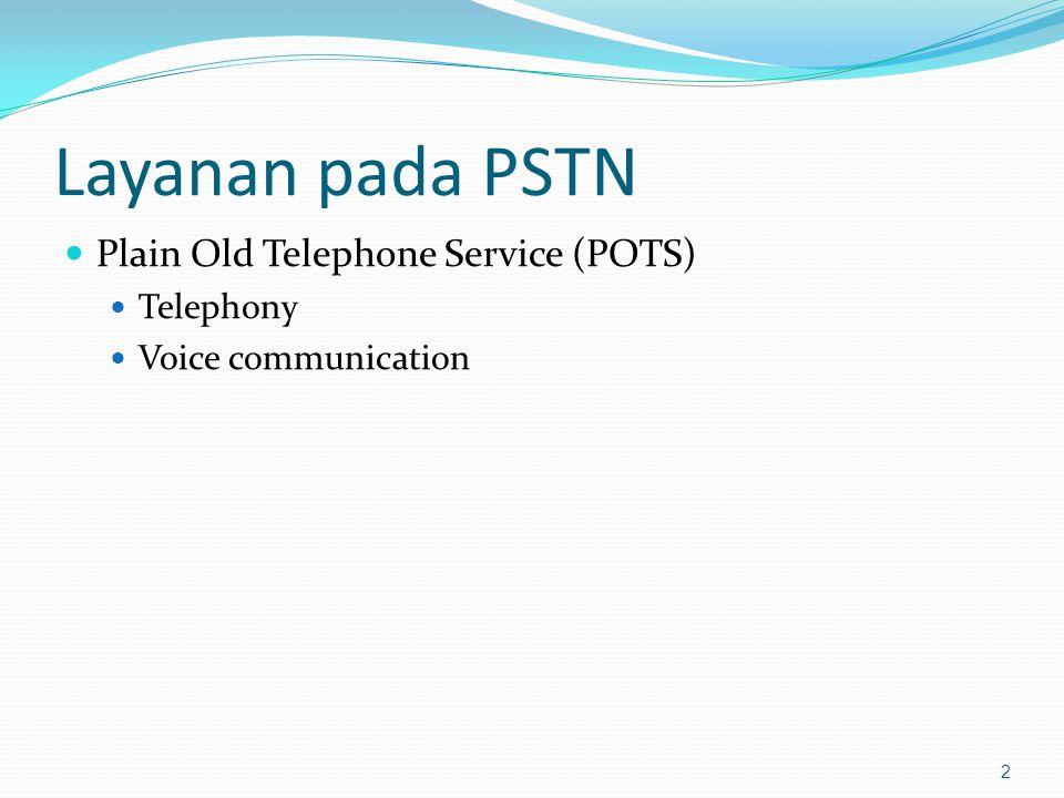 Layanan pada PSTN Plain Old Telephone Service (POTS) Telephony